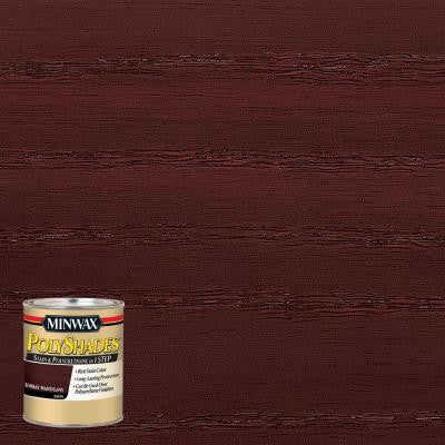 8 oz. PolyShades Bombay Mahogany Satin Stain and Polyurethane in 1-Step (4-Pack)