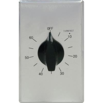 15-Amp 60-Minute In-Wall Spring Wound Stainless Steel Timer