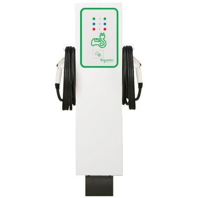 EVlink 30 Amp Level-2 Outdoor Dual Unit Pedestal Electric Vehicle Charging Station with RFID Access