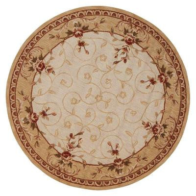 Melody Beige 5 ft. 6 in. Round Area Rug