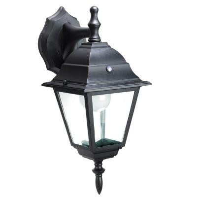 Black Outdoor LED Wall Mount Lantern