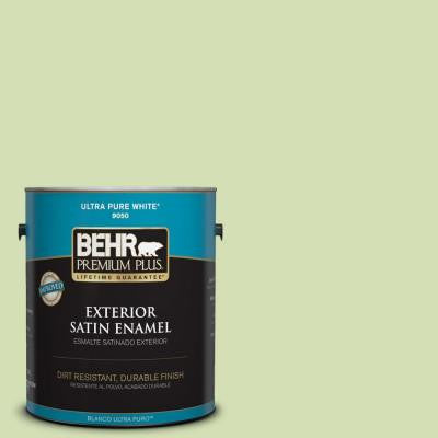 1-gal. #420C-3 Celery Bunch Satin Enamel Exterior Paint