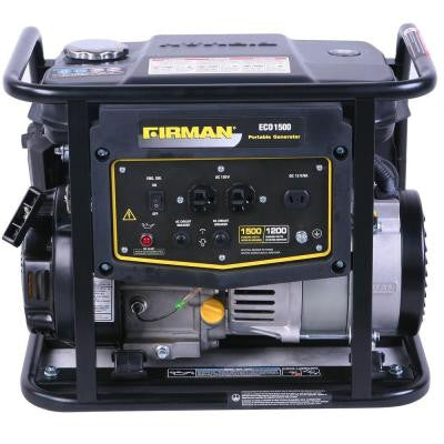 1,500-Watt Gasoline Powered Portable Generator 4-Stroke Single-Cylinder Air-Cooled with Recoil Start