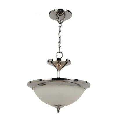 Solana 2-Light Polished Nickel Semi-Flush Mount Light