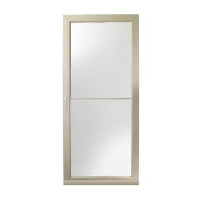 36 in. x 80 in. 3000 Series Sandtone Self-Storing Easy Install Storm Door