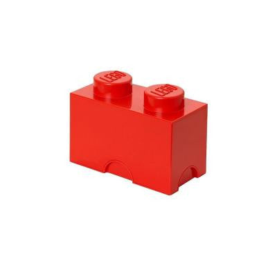 Storage Brick 2 - 4.92 in. D x 9.92 in. W x 7.12 in. H Stackable Polypropylene in Bright Red
