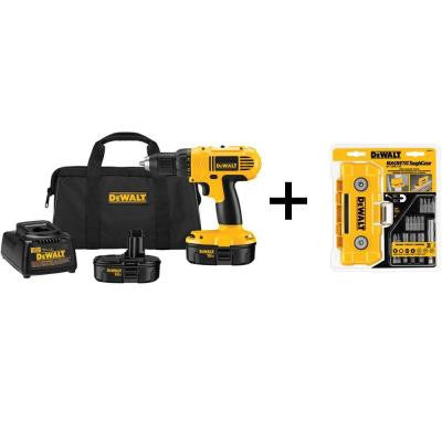 18-Volt NiCad Cordless 1/2 in. Compact Drill/Driver Kit with 15-Piece Screw Driving Set