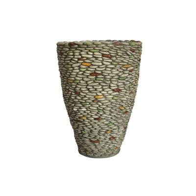 16 in. x 16 in. x 21.5 in. H Pebble Rock Fiberstone Planter