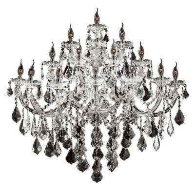Maria Theresa Collection 15-Light Chrome Crystal Wall Sconce