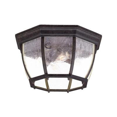 Flushmount Collection Ceiling-Mount 4-Light Outdoor Black Coral Light Fixture
