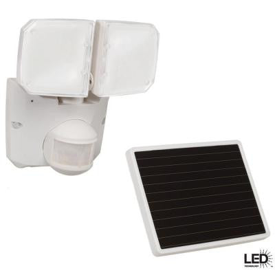 180 Degree Outdoor White Motion Activated Solar Powered LED Security Flood Light