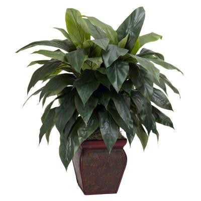 35 in. H Green Cordyline with Decorative Vase Silk Plant