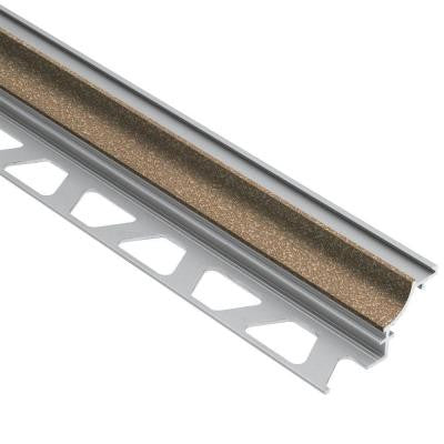 Dilex-AHK Tuscan Beige Color-Coated Aluminum 3/8 in. x 8 ft. 2-1/2 in. Metal Cove-Shaped Tile Edging Trim