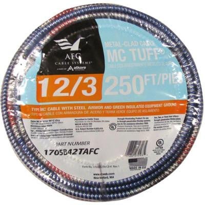 250 ft. 12-3 Solid MC Tuff Cable