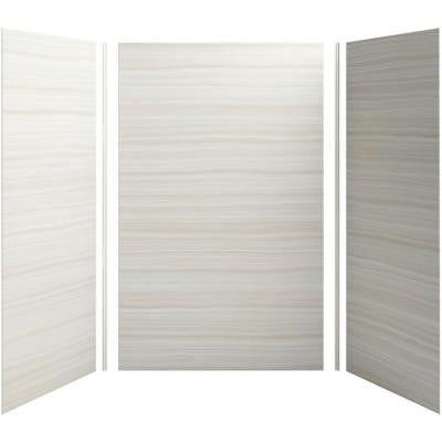 Choreograph 60in. X 42 in. x 96 in. 5-Piece Shower Wall Surround in VeinCut Dune for 96 in. Showers