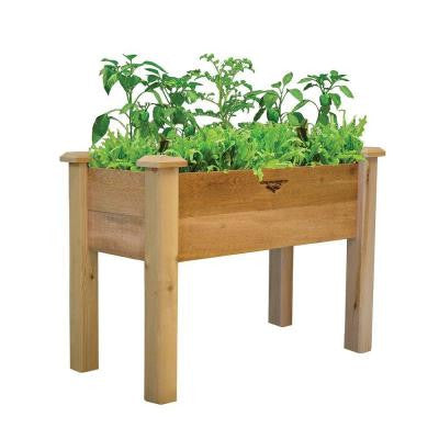 18 in. x 34 in. x 32 in. - 10 in. D Rustic Elevated Garden Bed