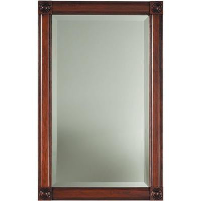 Soho 17.188 in. W x 27.438 in. H x 5.25 in. D Recessed Mirrored Medicine Cabinet in Cherry Frame