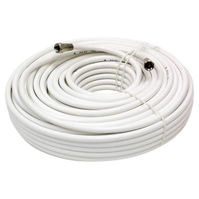100 ft. RG-6 Coaxial Cable - White