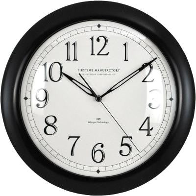 11 in. Black Round Slim Wall Clock