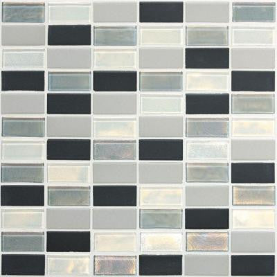 Coastal Keystones Tropical Thunder 12 in. x 12 in. x 6 mm Glass Mosaic Floor and Wall Tile