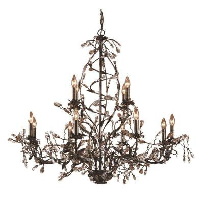 Circeo 12-Light Deep Rust Ceiling Mount Chandelier
