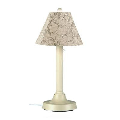 San Juan 30 in. Outdoor Bisque Table Lamp with Bessemer Shade