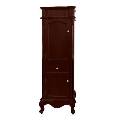 Messina 16 in. W x 23 in. D x 69 in. H Double Door Floor Cabinet in Antique Cherry