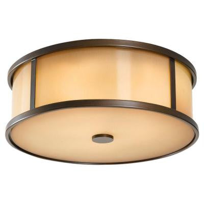 Dakota 3-Light Outdoor Heritage Bronze Ceiling Fixture
