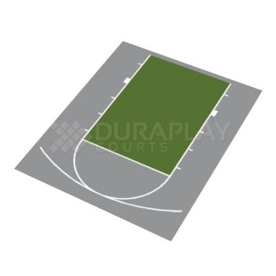 20 ft. 7 in. x 24 ft. 10 in. Half Court Basketball Kit