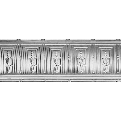 8-3/4 in. x 4 ft. x 8-3/4 in. Clear Lacquer Nail-up/Direct Application Tin Ceiling Cornice (6-Pack)