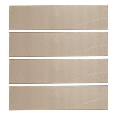 Aluminum 4 in. x 16 in. Glass Wall Tile (10.56 sq. ft. / case)