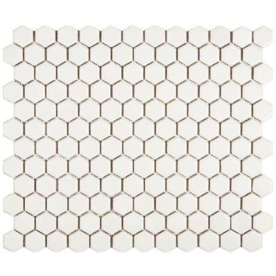 Metro Hex Matte White 10-1/4 in. x 11-3/4 in. x 5 mm Porcelain Mosaic Tile (8.54 sq. ft. / case)