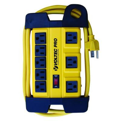6 ft. 14/3 SJT 1050-Joules 8-Outlet HD Power Station - Yellow