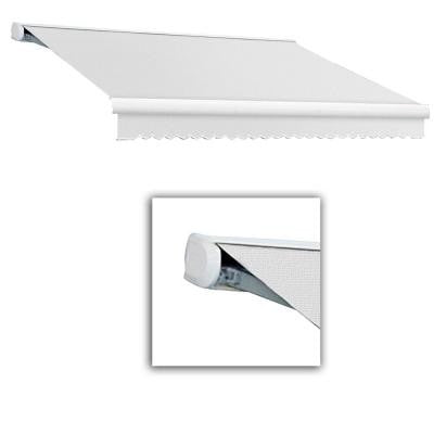 18 ft. Key West Full-Cassette Left Motor Retractable Awning with Remote (120 in. Projection) in Off White