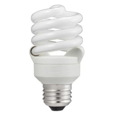 60W Equivalent Daylight (5000K) T2 Spiral CFL Light Bulb (E)* (6-Pack)