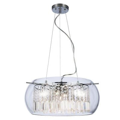 Baxendale 5-Light Crystal and Chrome Chandelier