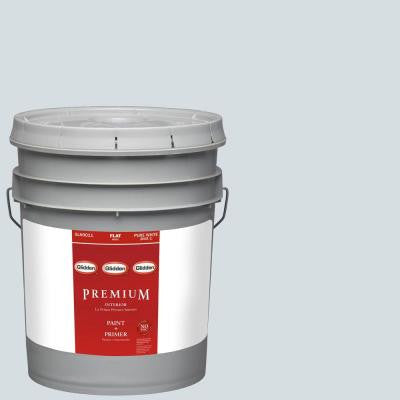 5-gal. #HDGV09 Ethereal Blue Flat Latex Interior Paint with Primer
