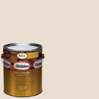 1-gal. #HDGWN29 Cappuccino White Flat Latex Exterior Paint
