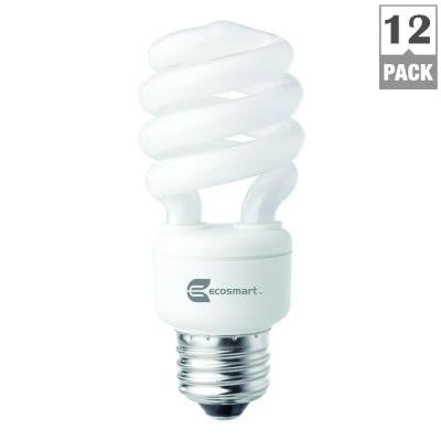 60W Equivalent Daylight Spiral CFL Light Bulb (12-Pack)