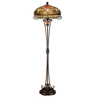 Briar Dragonfly 62.5 in. Antique Bronze Floor Lamp
