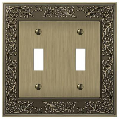 English Garden 2 Toggle Wall Plate - Brass