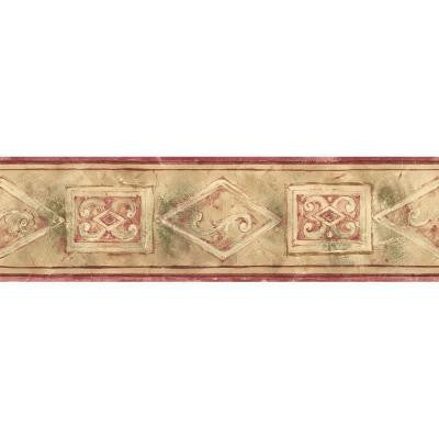 5.13 in. x 15 ft. Red Small Architectural Border