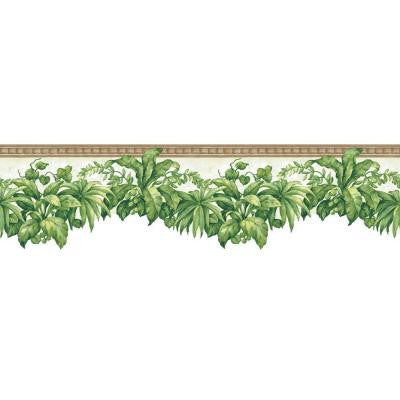 6.5 in. x 15 ft. Green Tropical Plants Border