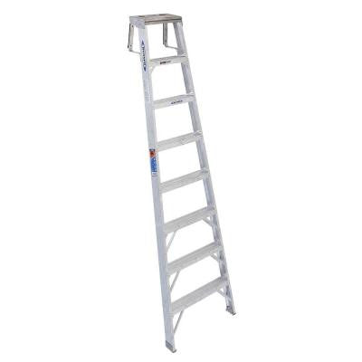 8 ft. Aluminum Shelf Step Ladder with 300 lb. Load Capacity Type IA