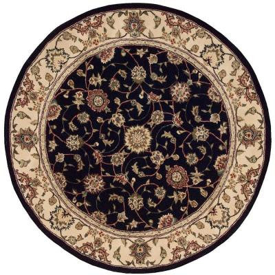 2000 Navy 4 ft. x 4 ft. Round Area Rug