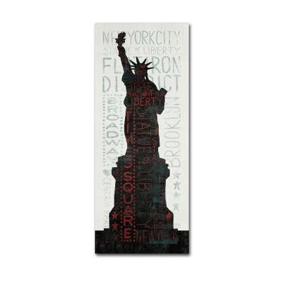 "19 in. x 8 in. ""Statue of Liberty"" by Michael Mullan Printed Canvas Wall Art"