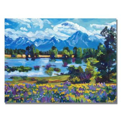 35 in. x 47 in. Wildflower Valley Canvas Art