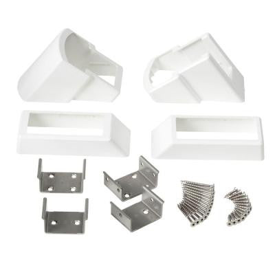 30° to 35° White Stair Rail Bracket Kit