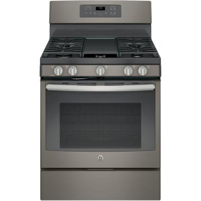 5.0 cu. ft. Gas Range with Self-Cleaning Convection Oven in Slate