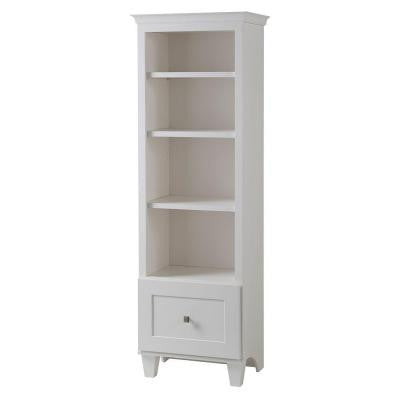 Creeley 21 in. W Linen Storage Cabinet in Classic White